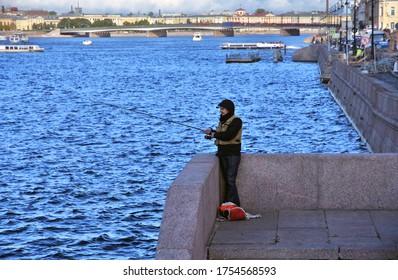 SAINT-PETERSBURG, RUSSIA - SEPTEMBER 18, 2019: Architecture of   historical city center, popular landmark.