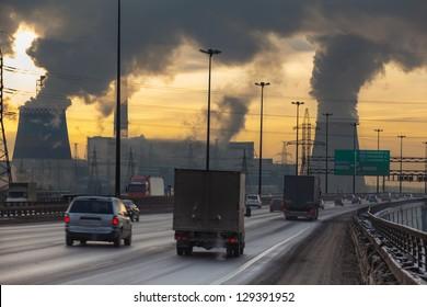 Imágenes, fotos de stock y vectores sobre Car Pollution