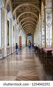 Saint-Petersburg/Russia - October 10 2015: The Raphael Loggias in Hermitage Museum