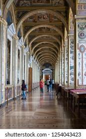 Saint-Petersburg/Russia - October 10 2015: The Raphael Loggias in Hermitage Museum.
