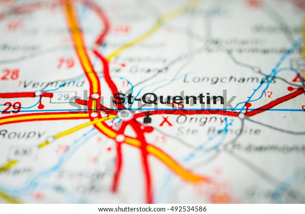 Map Of Saint Quentin France.Saintquentin France Stock Photo Edit Now 492534586