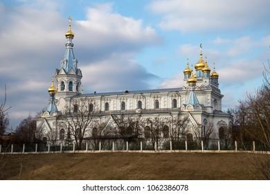 Saints Boris and Gleb Cathedral is the main Orthodox church in Daugavpils, Latvia.