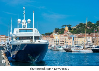 SAINT-TROPEZ, FRANCE - JUNE 10, 2013: Marina in Saint-Tropez in the Department Var of the province Provence-Alpes-Cote d Azur