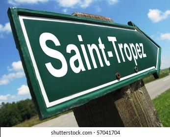 SAINT-TROPEZ road sign