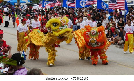 SAIPAN, CNMI—Members of the Chinese community perform a colorful dragon dance at the  Liberation Day Parade on Saipan in July 2016.
