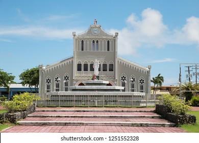 Saipan, Northern Mariana Islands - 10 10 2018 : Mount Carmel Cathedral
