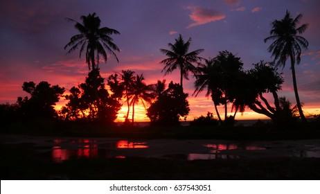 Saipan tropical sunset Tropical sunset in Saipan, Northern Mariana Islands