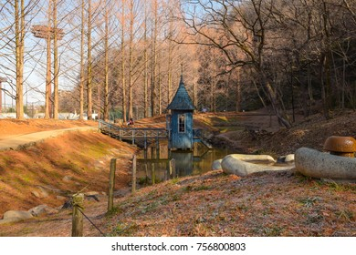 Saitama, Japan. January 2017 - The Akebono Kodomo no Mori Koen (Akebono Childrens Park) in Saitama which is a Moomin inspired children's park north of Tokyo