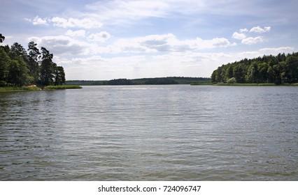 Sajno lake near Augustow. Poland