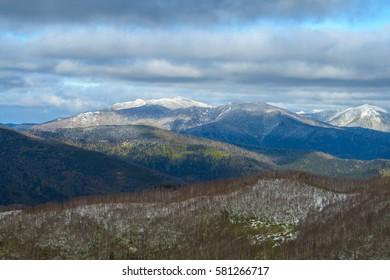 Sakhalin mountains in late autumn, Russia