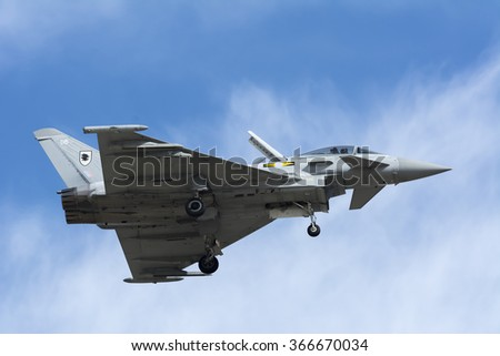 SAKHIR AIRBASE BAHRAIN JANUARY 23 Flying Stock Photo (Edit