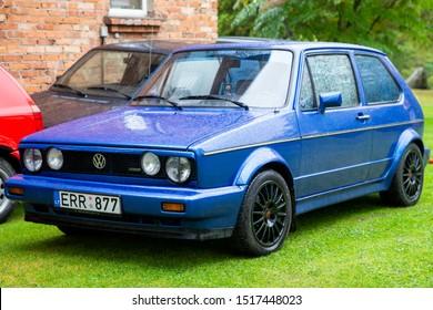Sakiai/Lithuania September 28, 2019 Volkswagen Golf mk1