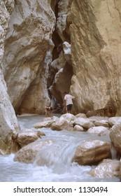 Saklikent Gorge, a slot canyon near Fethiye in Turkey
