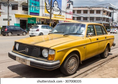 SAKON NAKHON, THAILAND -August 14 2015 : Old Private motor car Volvo. Photo at downtown Sakon Nakhon, thailand.