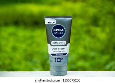 SAKON NAKHON, THAILAND - JULY 30, 2018: Nivea Foam,Nivea is a German personal care brand that specializes in skin- and body-care products,It is the best selling and most popular brand in Thailand.
