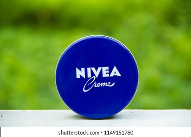 SAKON NAKHON,THAILAND,  JULY 30 2018: Nivea global skin- and body-care brand owned by the German company Beiersdorf,It is the most popular and most popular in Thailand.