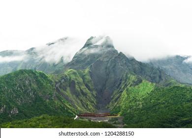 Sakurajima, an active composite volcano in Japan. Also called Cherry blossom Island.