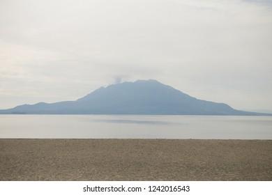 Sakurajima of backlight.