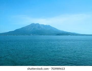 Sakurajima Island; a volcanic island in Kagoshima, Japan