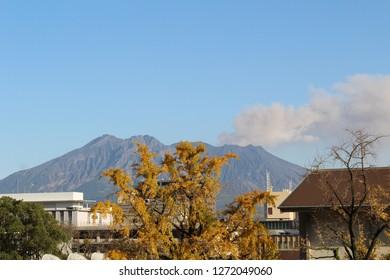 Sakurajima to raise plume in Kagoshima