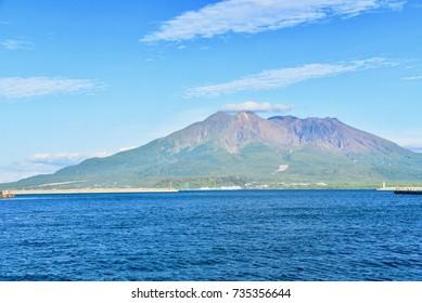 Sakurajima Volcano and Kinko Bay in Kagoshima Prefecture