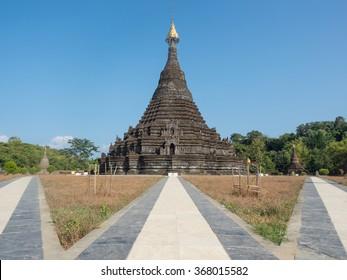 Sakya Manaung pagoda in Mrauk-U, Myanmar