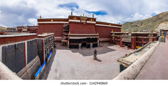 The Sakya town and monastery in Central Tibet. The ancient capital of Tibet. Sacred place for Buddha pupils making piligrimage in Asia. Place of prayer, calm and meditation.