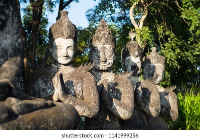 Sala Keoku  is a park featuring giant fantastic concrete sculptures inspired by Buddhism. It is located near Nong Khai, Thailand in immediate proximity of the Thai-Lao border and the Mekong river