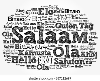 Salaam hello greeting persianfarsi word cloud stock photo photo salaam hello greeting in persianfarsi word cloud in different languages of the m4hsunfo