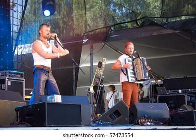 SALACGRIVA, LATVIA - JULY 17 : Group SVJATA VATRA performs onstage at Positivus Festival 2010 July 17, 2010 in Salacgriva, LATVIA