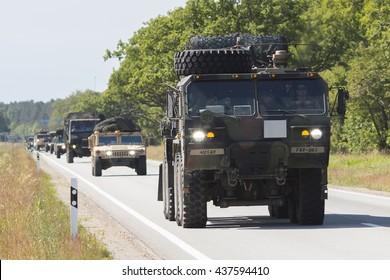 salacgriva latvia june 14 2016 dragoon ride ii us army convoy