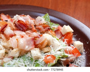salad with bacon and vegetable.spanish kitchen