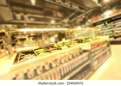 salad bar, blurred image background