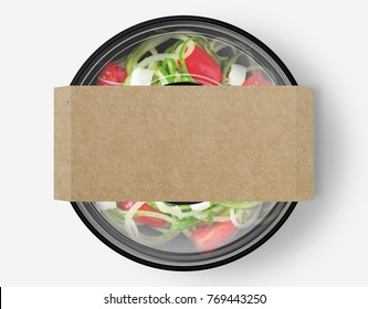 Salad Box with cover from top view