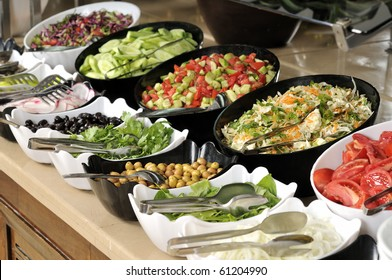 Salad buffet - a series of RESTAURANT images.