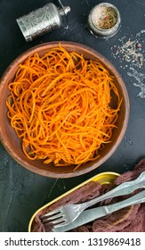 salad with carrot, carrot salad in bowl