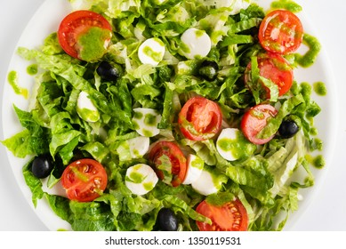 salad with cherry tomatoes and mozzarella