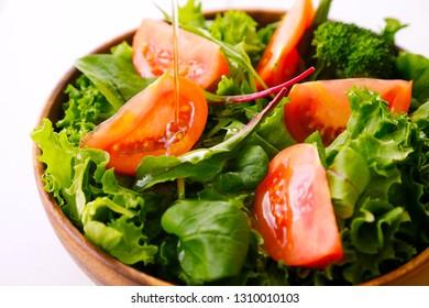 Salad close up image