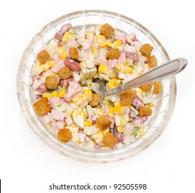 salad of corn and sausage
