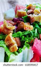 Salad with Crispy Pork