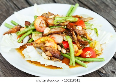 salad Grilled Pork neck thai style