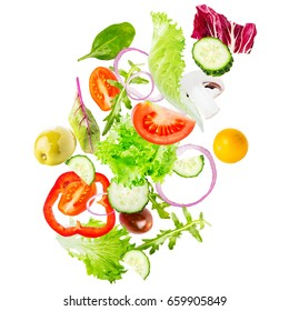 salad isolated in white
