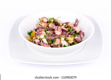 Salad with Octopus and Vegetables.