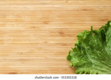 Salad on wood background