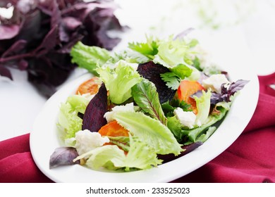Salad of roast beetroot, carrot  and cheese feta
