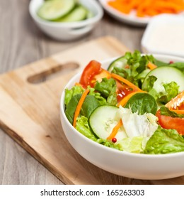 Salad with tomato and cucumber
