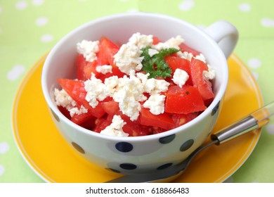 Salad of tomatoes with cheese
