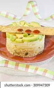 Salad vegetable,  avocado, potato, quinoa. Vegetarian Food