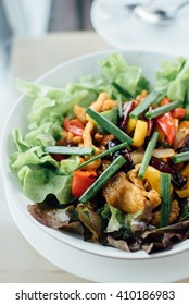 salad vegetable on the dish