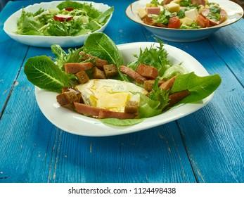 Salade Lyonnais - France including salade close up